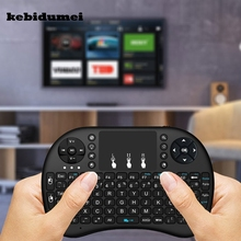 kebidumei Mini Wireless keyboard 2.4G Fly Air Mouse with Touchpad Combo Teclado for HD PC for Xbox360 for PS3 for Andriod TV Box(China)