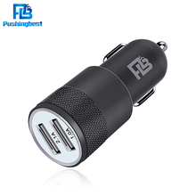 Dual car usb charger Metal Aluminum 2.1A Universal Car charger For Samsung Galaxy S4 S5 For iPhone 5 6 6 plus For ipad 2 3 4 5