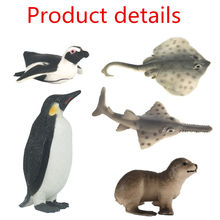 6 type Amazing Marine animals Model Toy Classic Plastic penguin Sea Lions Toys For Boys Collection Gift Action Toy Figures