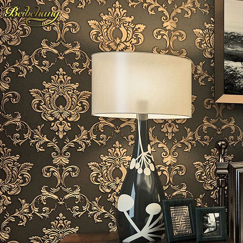 beibehang wall paper 3d non-woven three-dimensional wallpapers living room bedroom TV background retro retro European  wallpaper<br>