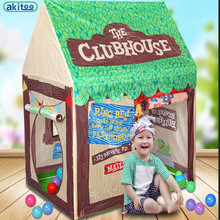 New Arrival Super large Game House Indoor Outdoor Portable Children Tent Boy Toy House Home Tents For Kids playing gift(China)