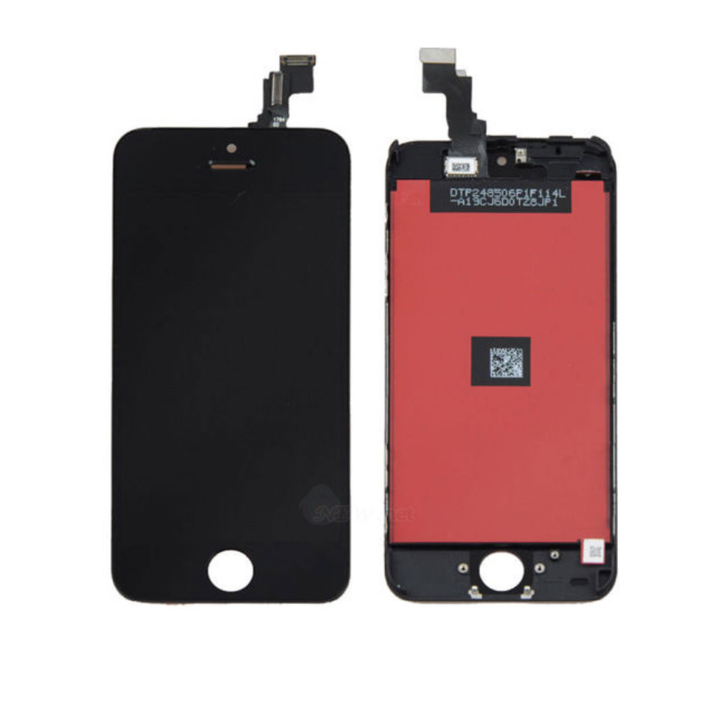Black LCD Lens Touch Screen Display Digitizer Assembly Replacement for iPhone 5C Black Free shipping<br><br>Aliexpress