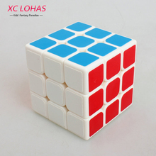 3x3x3 Sticker Magic Cube 3 Layers High Speed Twisty Puzzle Magic Cube Toy Boy Children Educational Toys Brain Teaser Puzzles(China)