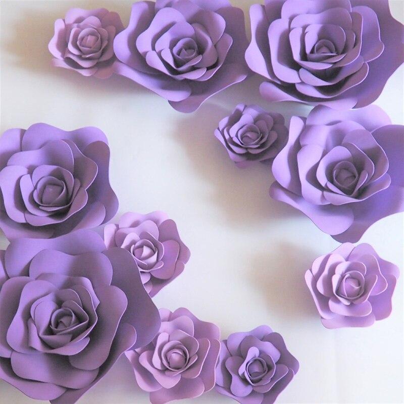 2018 giant foam paper flowers mix lilac purple for showcase wedding photos list mightylinksfo