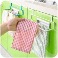 Double pole Kitchen cloth holder hanging towel rack cabinet Cupboard Door Hanging shelf towel rail Bathroom Kitchen Accessories(China)