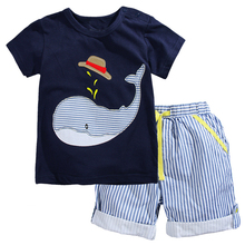 Kids Summer Clothes Boys Sets 2017 Brand Children Clothing Set Baby Boy Outfits Animal Pattern Boys Tops+Shorts Sport Suits