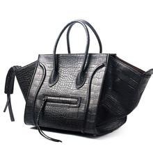 2017 large medium black alligator pattern smiley bag nano tote handbag  Shoulder Bag brand designer d5fa739f70