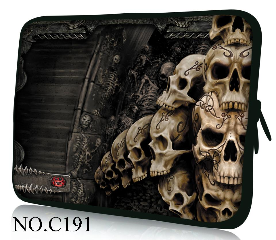 Hot Classic Skulls Laptop Soft Sleeve Bag Case Pouch For 9.7 10.1 11.6 12 13.3 14 15 15.6 Samsung /SONY Asus Acer Apple<br><br>Aliexpress