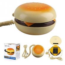 Very funny Durable CB2 Novetly Juno Hamburger Cheeseburger Burger Corded Phone Novelty Telephone bread model phone Cute Gift
