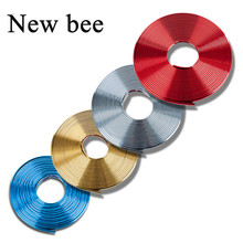 Newbee Chromium Plated Exterior Rim Grill Headlight Sticker Wheel Hub Protector Motorcycle Decal For Kia Toyota BMW Audi Hyundai(China)