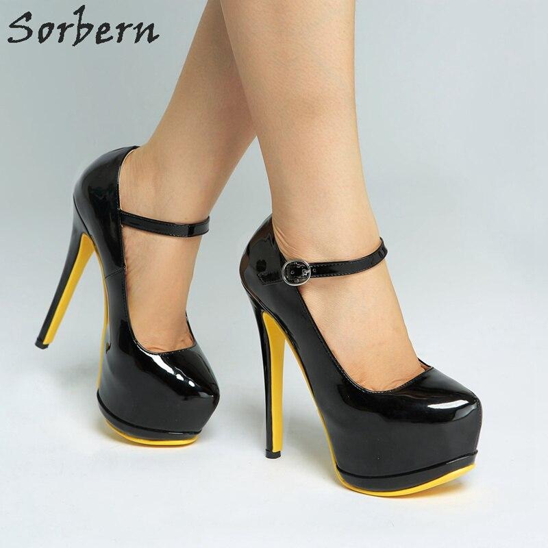 Chic Ladies 18CM Stiletto High Platform Shoes Patent Leather Party Cluwear Pumps