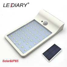 LEDIARY IP65 Waterproof LED Solar Street Lamp 4W Ultrathin Garden Lamps Infrared Induction Wall Lights PIR Sensor Outdoor Using(China)