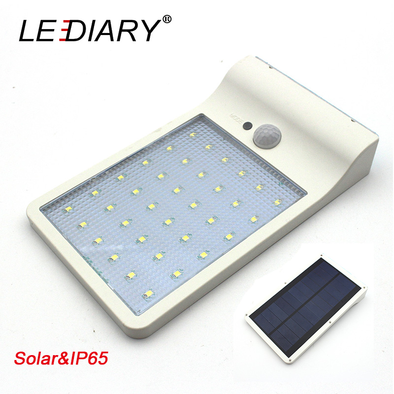 LEDIARY IP65 Waterproof LED Solar Street Lamp 4W Ultrathin Garden Lamps Infrared Induction Wall Lights PIR Sensor Outdoor Using(China (Mainland))