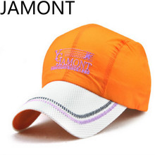 [JAMONT]Orange Blue Green Gray Purple Navy White Patchwork Quick Drying Breathable Mesh Summer Baseball Cap Women Men Sun Hats(China)