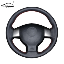 Artificial Leather car steering wheel braid for Old Nissan Tiida Livina Sylphy Note/Custom made Steering cover(China)