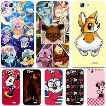 G483 Cute Cartoon Characters Transparent Hard Thin Skin Case Cover For Huawei P 6 7 8 9 10 Lite Plus Honor 6 7 8 4C 4X G7(China)