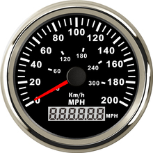 1pc GPS Speedometers Odometers Odograph 0-200MPH 85mm Milometers 9-32V Use for Cars with Light and GPS Antenna(China)