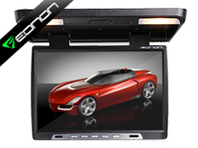 15.4 Inch Flip Down Car Monitor Car Roof Monitor Roof Mounted Monitor with Built in IR Transmitter (Black Color Only)