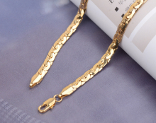 60cm long Gold Color Link Chain Necklace New Fashion Men Jewelry