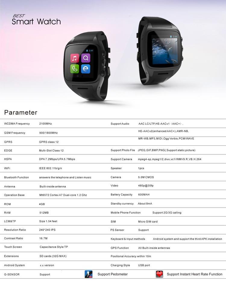 Smart Watch(black) 2015