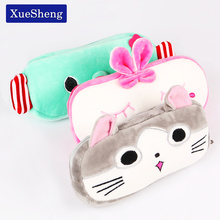 1 PC Cute Cartoon Plush Pencil Case Kawaii Large Size School Kids Pencil Box Animals Stationery Bag(China)