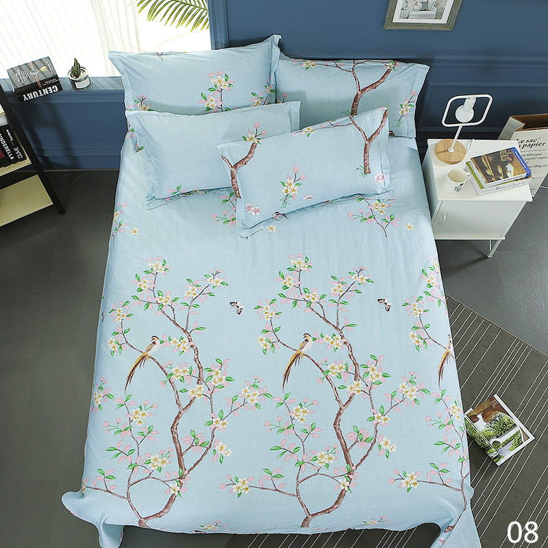 100% Cotton Modern Fashion Bed Flowers Flowers And Trees Printing Pattern 3pcs Bed Sheets Pillowcase Large Size 230x250cm 11