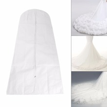 1Pc Wedding Dress Dust Cover Folding Bags Clothes Bridal Gown Bag For Wedding Dress Garment Bags 3 Length(Hong Kong)