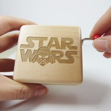 Handmade Wooden Star Wars music box special souvenir gift box, birthday gifts free shipping(China)