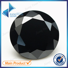 50pcs 5A 0.8-6.0mm Black Color Loose Cubic Zirconia CZ Stone Round Shape European Machine Cut Synthetic Gemstone