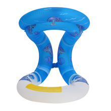1X Life Vest For Children Kids Adults Inflatable Swimming Circle Learning Aid Neck Collar Floating Ring(China)