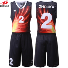 Special Pattern Digital Sublimation Printing On Basketball Clothing Unique Design Name Number Basketball Jersey