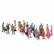100x 1:150 Building Layout Model People Train HO Scale Painted Figure Passenger