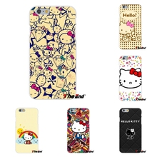 Popular Elegant Artwork Hello Kitty Silicone Phone Case For iPhone 4 4S 5 5S 5C SE 6 6S 7 Plus Galaxy Grand Core Prime Alpha