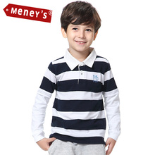 100% Cotton Boys Classic Polo Shirts Baby Double Layer Stripes polo shirt boys Kids Tiger Dog Logo Infact Tee Child Top