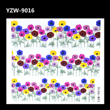 YZWLE 2017 Nail Design Water Transfer Nails Art Sticker Colored Flower Nail Wraps Sticker Watermark Fingernails Decals