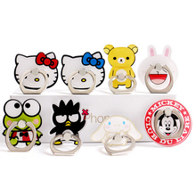 1 Piece Cute Cartoon Mobile Phone Holder Stands Lovely Kitty Mickey Bear Bunny Animal Pattern Mobile Phone Finger Rings