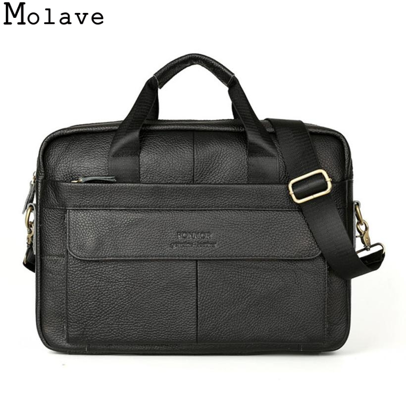 Molave HandBag Mens Leather Messenger Shoulder Bags Tote Business Work Briefcase Bolsas men Laptop Bag Handbag Jan17<br>
