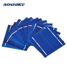 Aoshike 100Pcs Solar Panel Solars Cell 0.5V 0.46W Color Crystal Solar Module DIY Battery Charger 52x52MM Sun Power Bank