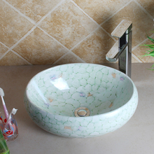 40cm Oval Ceramic Washbowl with Drain Pipe Living Room Furniture Personalized Counter Top Sink Ceramic Washing Basin