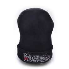 Bullet For My Valentine band Knitted Hat Female Winter Beanies Men Women Warm Cuff Plain Knit Ski Long Beanie Skull Cap(China)