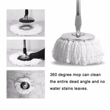 Home Use Super Soft Microfiber Home Cleaning Floor Mop Heads 360 Degree Rotation Cleaning Replacement Round Floor Mops