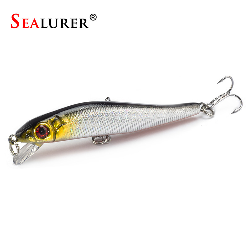 1pc 10cm//9.4g minnow hard fishing lures baits with two wobble floating  I