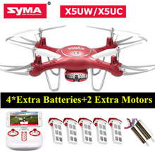 SYMA X5UW FPV Quadcopter Phone Control X5UC Drone with HD Camera 2.4G 6-axis Gyro Drones Height Hold Remote Control Toy(China)