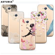 ASTUBIA For Huawei Honor 6A Case Stars Space Silicone Transparent Case For Huawei Honor 6A Cover 5.0'Marble Pattern Phone Case(China)