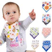 2pcs/Lot Pure Cotton Baby Burp Bandana Bibs 2 Layers Bebe Soft Triangle Scarf Santa Toddler Bib Accessories Infant Saliva Towel(China)