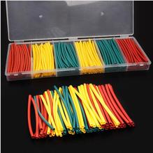 180PCS Mixed Colors Heat Shrink Tube Assortment Wire Wrap Electrical Insulation Kits Yellow Green Red