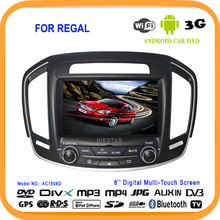 Car DVD Radio GPS Navigation 8''  Capacitive Screen Andriod 5.1 Market WIFI Bluetooth quad core mirror link tv for Buick Regal