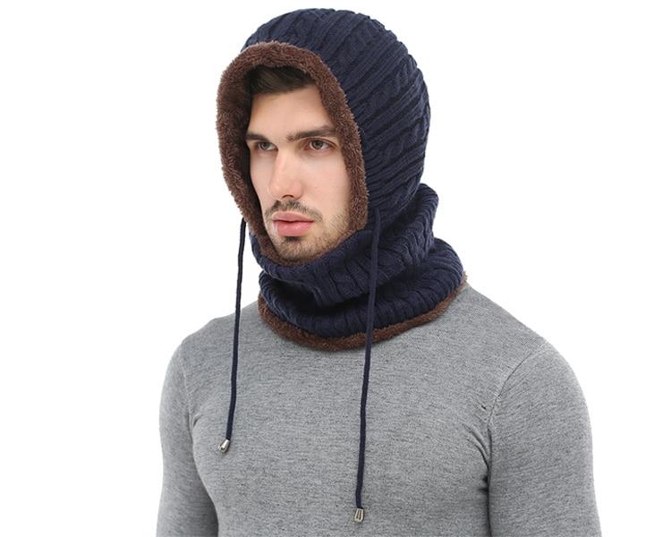 قبعة و وشاح رجالي دافئ 1