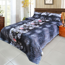 3d Galaxy bedding sets Twin/Queen Size Black Tiger 3pcs/4pcs Bed Linen Bed Sheets Duvet Cover Set(China)