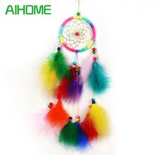 2017 New Style Handmade Dream Catcher Net With feathers Wind Chimes Hanging Carft Gift For Home Decoration Drop Shipping(China)